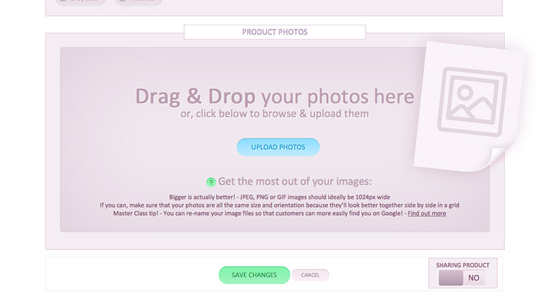 Upload product photos to your store on iPad, iPhone and tablet devices